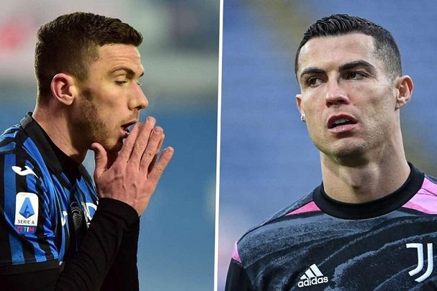 Cristiano Ronaldo left Serie A rival