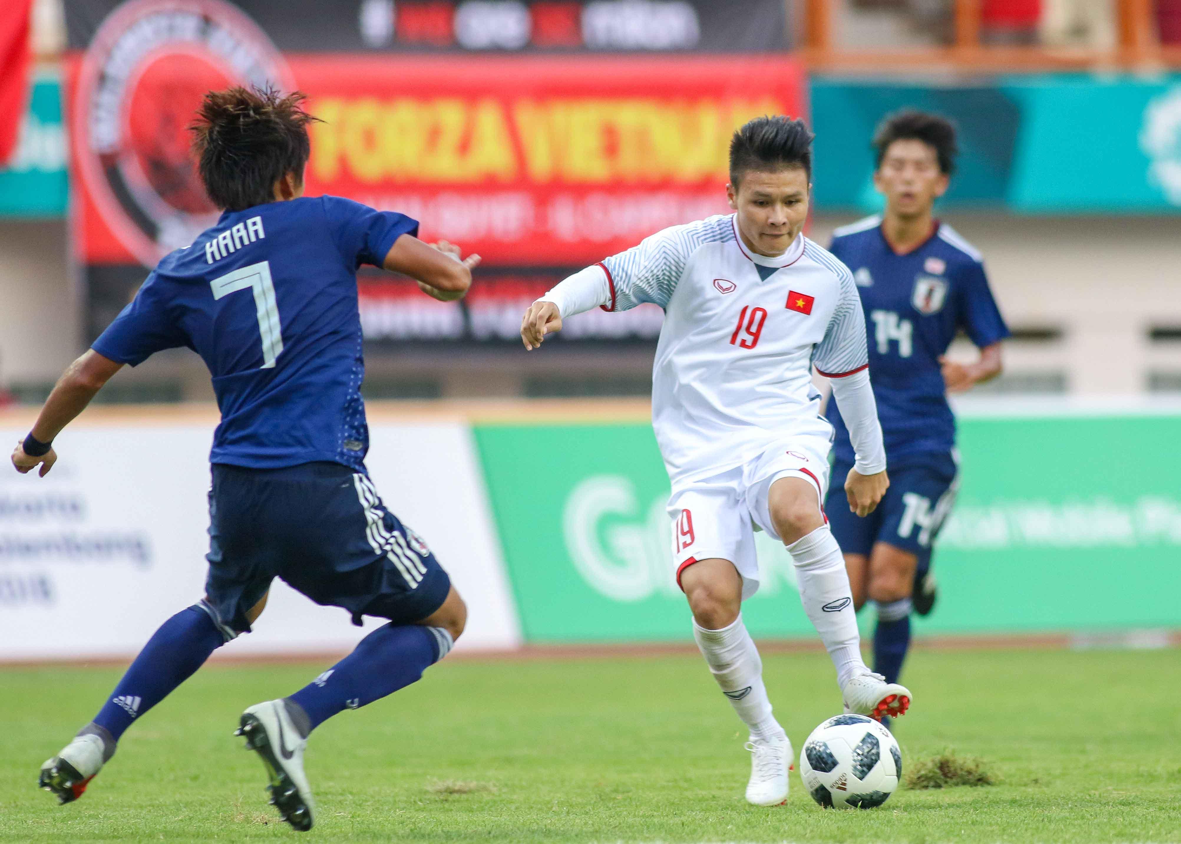 Quang Hải có tên trong danh sách đội hình tiêu biểu ASIAD 2018. Ảnh: Huy Hùng