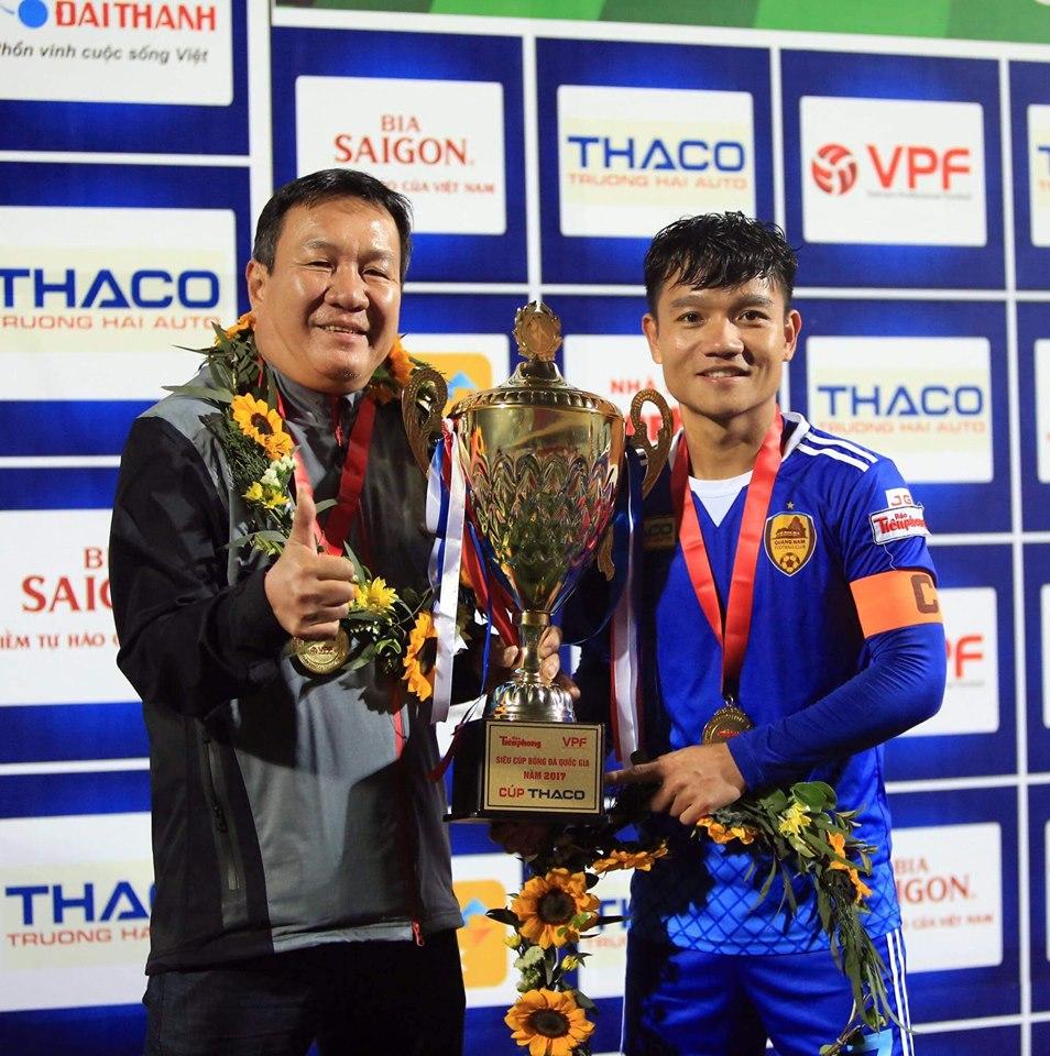 Đinh Thanh Trung viết tâm thư ngày HLV Hoàng Văn Phúc chia tay Quảng Nam - Bóng Đá