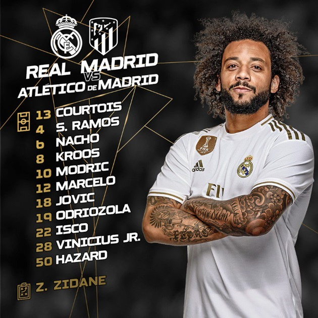 TRỰC TIẾP Real Madrid - Atletico Madrid: Đội hình dự kiến - Bóng Đá