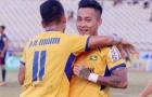 Cựu tuyển thủ U23 Việt Nam lập cú đúp, SLNA đẩy Khánh Hòa vào 'cửa tử'