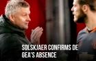 Solskjaer làm rõ lý do loại De Gea khỏi đội hình M.U