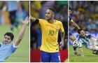 Bị phạm lỗi nhiều ở VL World Cup 2018 khu vực Nam Mỹ: Messi chẳng là gì so với Neymar