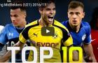 10 tiền vệ trẻ (U21) triển vọng nhất 2017