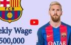 Mức lương của cầu thủ Barcelona mùa 2017/18