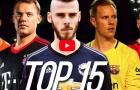 Top 15 thủ môn xuất sắc nhất mùa 2017/18