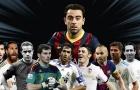 Xavi và 10 danh thủ Tây Ban Nha xuất sắc nhất mọi thời đại