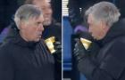 Phản ứng lạ của Ancelotti khi thắng Mourinho 5-4 vào phút 97