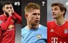 Top 10 'vua kiến tạo' đỉnh nhất châu Âu hiện tại
