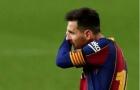 Messi phản ứng không ngờ sau bàn thắng của Pique