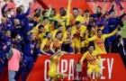 Ghi 4 bàn trong 12 phút, Barcelona vô địch cúp Nhà vua TBN
