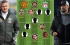 Đội hình kết hợp M.U vs Liverpool: Quỷ đỏ chiếm 6 vị trí