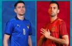 4 điểm nóng Ý vs Tây Ban Nha: Rực lửa cuộc chiến khu trung tuyến