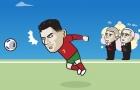 Cười té khói với loạt ảnh chế Ronaldo phá kỷ lục ghi bàn ĐTQG