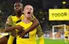 Haaland lập cú đúp, Dortmund lội ngược dòng trong cơn mưa bàn thắng
