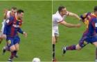 'Năm lần bảy lượt' túm áo Messi, sao Sevilla nhận cái kết đắng