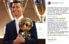 Người nhà Ronaldo ám chỉ 'thế lực ngầm' khiến anh mất QBV