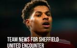 XONG! Đội hình M.U đấu Sheffield: 'Quái thú' trở lại, rõ chấn thương của Rashford