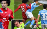 SỐC! Sao trẻ Bayern khiến mặt đối thủ đầy máu
