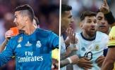 Ai nhận nhiều thẻ đỏ hơn trong sự nghiệp: Messi hay Ronaldo?