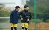 Trước trận gặp U22 Việt Nam, thầy Park nhận tin vui từ Quang Hải và Tuấn Anh