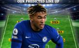 Đội hình Chelsea đấu Fulham: 'Cơn lốc' cánh phải trở lại, Kante vắng mặt