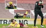 Alisson ôm mặt hối hận sau khi 'dâng' cho Burnley quả 11m oan nghiệt