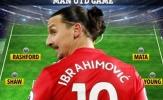 Ngày cuối của Ibra tại Old Trafford, Man Utd ra sân với đội hình nào?