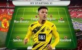 4 phương án Man Utd có thể sử dụng Jadon Sancho