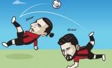 Cười té khói với loạt ảnh chế AC Milan mua Giroud