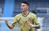 CHÍNH THỨC: James Rodriguez bị loại khỏi Copa America