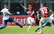 Hàng thủ 'biếu' 1 bàn thắng, AC Milan hú vía trước Sampdoria