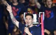 Messi nói gì trong lễ ăn mừng Champions League?