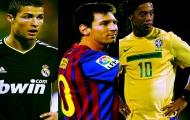 Top 10 bàn thắng đẹp nhất của Ronaldinho, Zidane, Messi và CR7