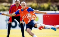 Quyết tâm trả đũa Iceland, Robben hăng hái tập sút