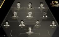 QBV FIFA 2015: Nghịch lý Đội hình tiêu biểu của năm