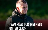 XONG! Đội hình M.U đấu Sheffield United: 3 cái tên OUT