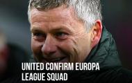 CHÍNH THỨC! Man Utd chốt danh sách dự Europa League: 2 gương mặt mới
