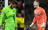 Cùng một tình huống, Henderson cho thấy sự khác biệt với De Gea