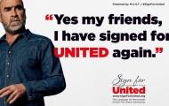 'Đúng vậy các bạn, tôi lại ký với Man Utd một lần nữa'