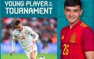 CHÍNH THỨC! Sao độc nhất vô nhị đoạt giải cầu thủ trẻ hay nhất EURO 2020
