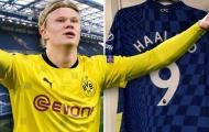 Bất ngờ với áo đấu Chelsea in tên Haaland