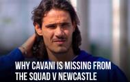 Vì sao Cavani vắng mặt khi Ronaldo ra mắt M.U?