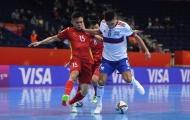 Tuyển futsal Việt Nam xuất sắc, khiến Nga toát mồ hôi ở vòng 1/8