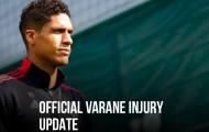 CHÍNH THỨC! Man Utd công bố tin xấu về tình trạng của Varane