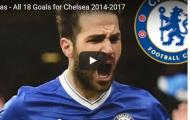 Tất cả 18 bàn thắng của Fabregas cho Chelsea