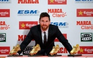 Messi từ chối nói về tương lai khi nhận Chiếc giày vàng thứ 4