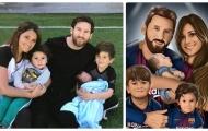 Gia đình hạnh phúc của Messi được họa thành tranh 3D