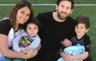 Messi khoe ảnh con trai thứ ba, muốn sinh thêm con gái