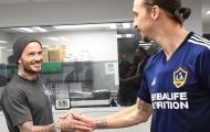 Được Beckham cổ vũ, Ibra vẫn không thể giúp LA Galaxy thoát thua
